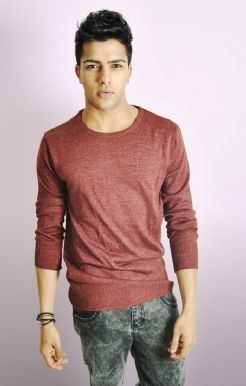 MEN'S LIGHTWEIGHT JUMPER IN COLOURS DENIM OR WINE